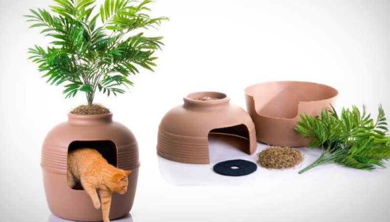 Hidden cat litter box pot