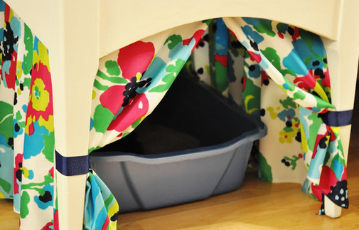 hiding a litter box