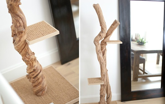 modern cat scratcher tree